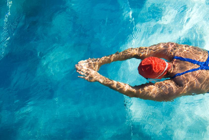 Schwimmerin Titelseite