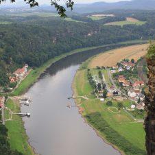 Blick von der Bastei ins Tal