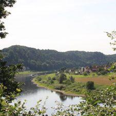 Blick von der Berghütte ins Tal