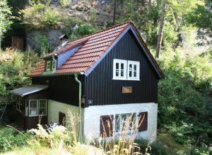 Bie Berghütte in Rathen mit neuem Dach