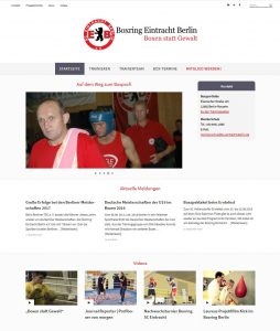 Screenshot Website Boxring Eintracht Berlin