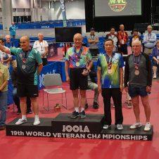 Berhard Thiel bei der Tischtennis-WM der Senioren 2018 in Las Vegas