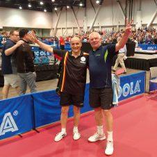 Berhard Thiel und Petr Polak bei der Tischtennis-WM der Senioren 2018 in Las Vegas