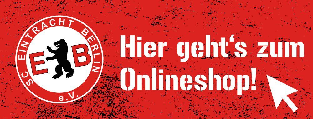 Banner für den Fan-Shop