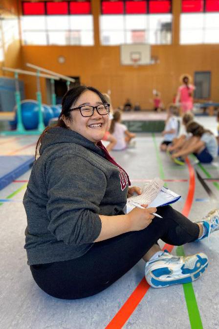 Hien beim Volleyball-Training