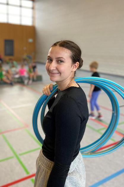 Karina beim Volleyball-Training